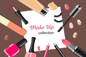 Make up vector collection