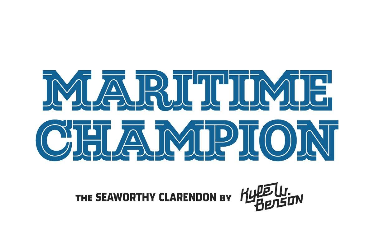 Maritime Champion ~ Slab Serif Fonts ~ Creative Market