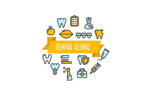 Dental Clinic Concept. Vector