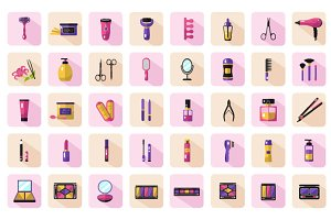 40 Vector Icons of Beauty