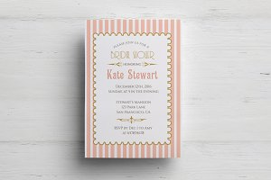 Retro bridal shower template