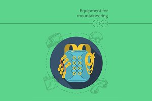 Mountaineering equipment. Backpack