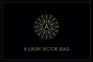 8 Luxury vector seals