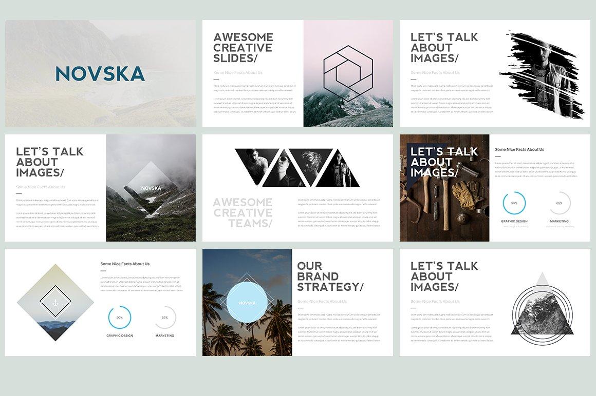 novska modern powerpoint template presentation templates creative market. Black Bedroom Furniture Sets. Home Design Ideas