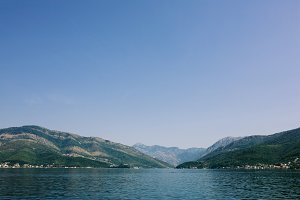 Beautiful view of landscape in Montenegro. Kotor Bay