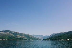 Beautiful view of landscape in Montenegro. Kotor Bay