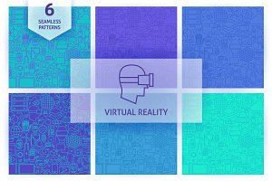 Virtual Reality Line Tile Patterns