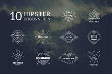 10 Hipster Logos Vol. 9