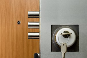 door security lock with keys