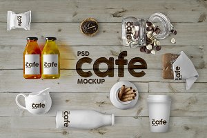 Cafe Branding & Packaging Mockup