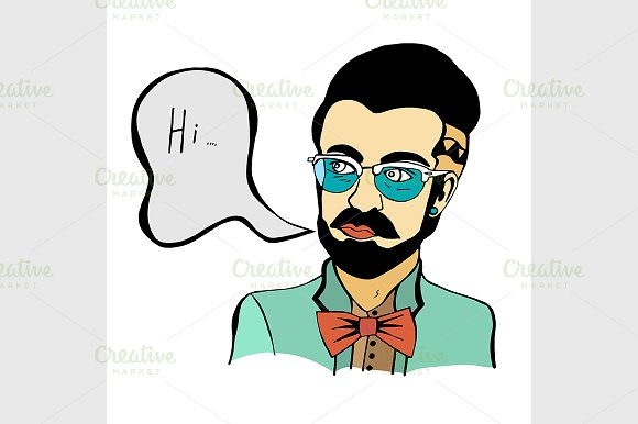 Hipster in Graphics