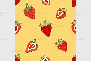 pattern Set red strawberries