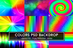 Colors PSD Backdrop