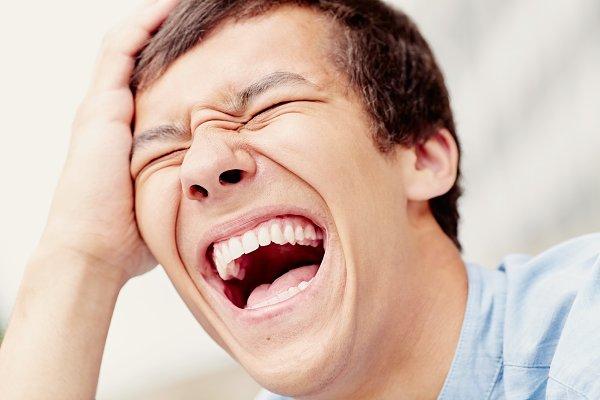 Laughter closeup