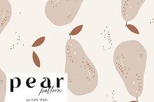 p a t t e r n / pear fruit by  in Graphics