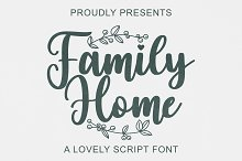 Family Home by  in Fonts