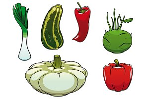 Healthy fresh and ripe vegetables