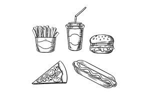 Fast food sketches