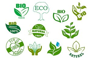 Bio, eco and natural product symbols