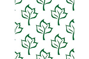 Pattern with stylized maple leaves