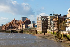 New apartment buildings in London