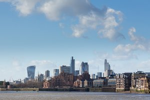 Skyline of London from Docklands