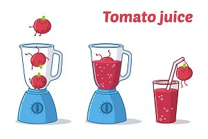 "Illustration ""Tomato Juice"""