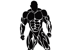 bodybuilding, vector, fitness