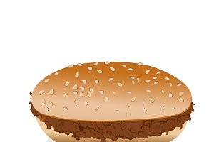 hamburger, plain, vector