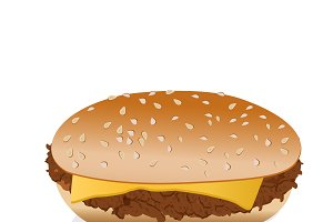 cheeseburger, vector