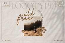 Wild & Free Logotype pack by  in Templates
