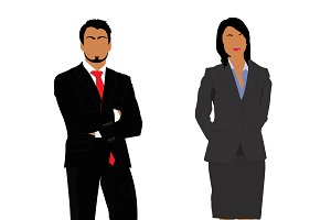 business people, vector