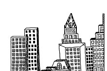 city, downtown, vector