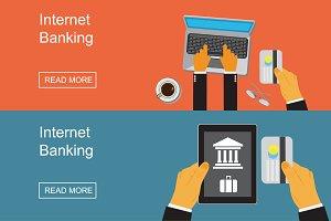 internet banking concept, vector