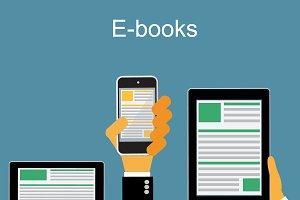 e-book concept, vector