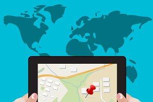 navigation, gps concept, vector