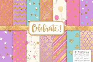 Fresh Gold Foil Digital Papers