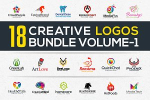18 Creative Logos Bundle Vol-1