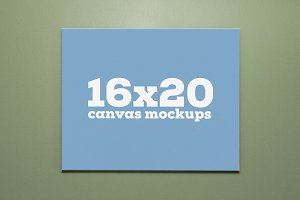 16x20 Canvas Mockups