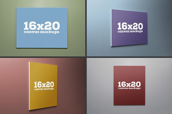 16x20 canvas mockups product mockups creative market