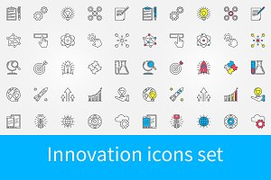 Innovation icons set