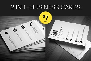 Bundle 2 in 1 - Metro Business Cards