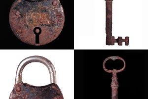 Padlock and key