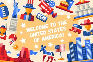 Big Bundle of USA Icons & Postcards