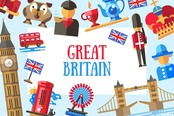 big bundle of uk icons postcards icons creative market