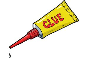 Yellow tube of glue