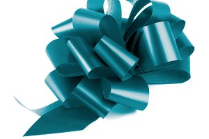 Blue Glossy Bow