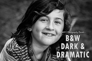 B & W Dark & Dramatic - LR presets