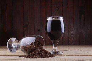 Dark beer and malt
