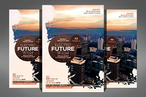 Future Techno Flyer Psd Template